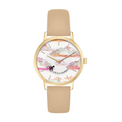 Mixit Life Is A Journey Womens Brown Strap Watch-Pts5078bg