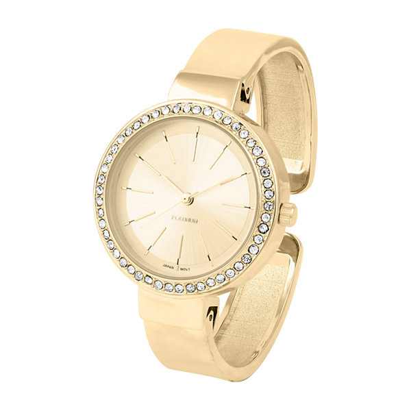 Daisy Fuentes Womens Gold Tone Bangle Watch-Df124gd