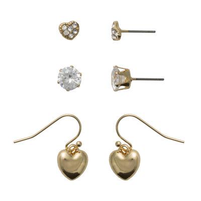 Sensitive Ears 3 Pair Earring Set