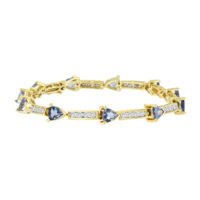 Womens 1 5/8 CT. T.W. Blue Tanzanite 14K Gold Tennis Bracelet