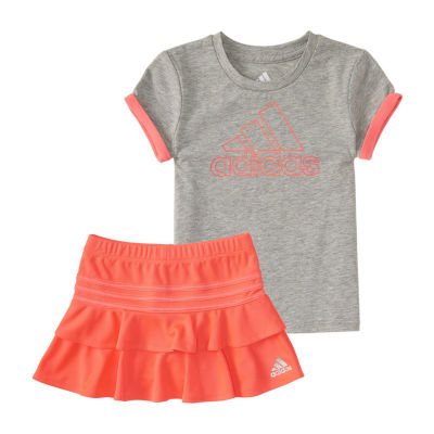 adidas 2-pc. Skort Set Baby Girls
