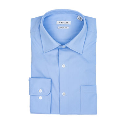 Haggar Long Sleeve Poplin Dress Shirt