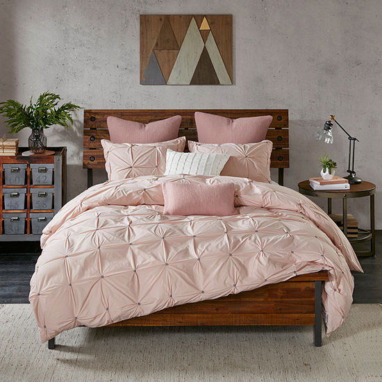 INK+IVY Masie 3-pc. Solid Embroidered Duvet Cover Set