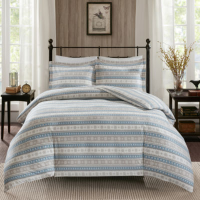 Woolrich Nordic Snowflake Flannel 3-pc. Duvet Cover Set