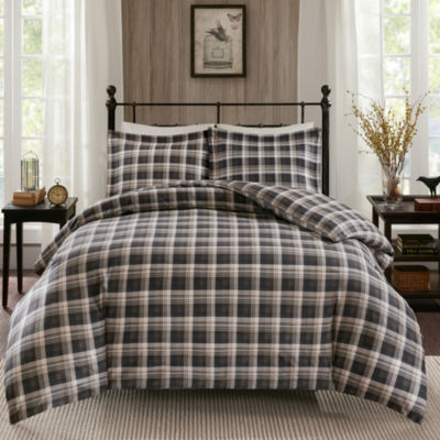 Woolrich Tasha 3-pc. Flannel Duvet Mini Cover Set