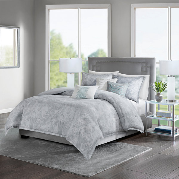 Madison Park Nowell Cotton  6-pc. Duvet Cover Set