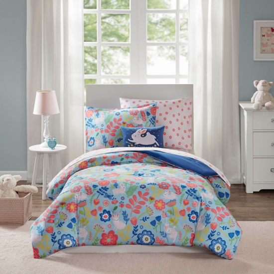 Mi Zone Kids Hoppy Floral Complete Bed With Sheet Set