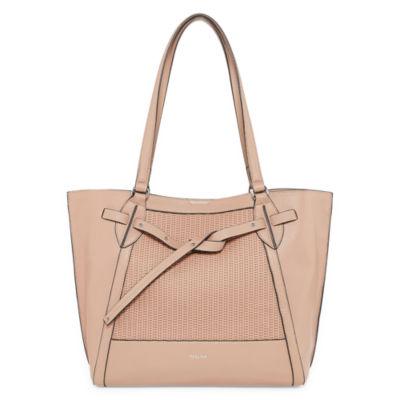Perlina Shine Ii Leather Tote Bag