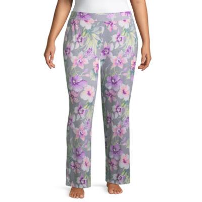Ambrielle Jersey Stripe Pajama Pants-Plus