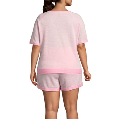Ambrielle Knit Shorts Pajama Set-Plus