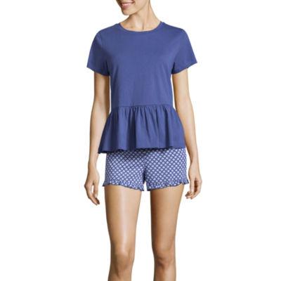 Peace, Love, & Dreams Ruffled  Tee and Shorts Pajama Set