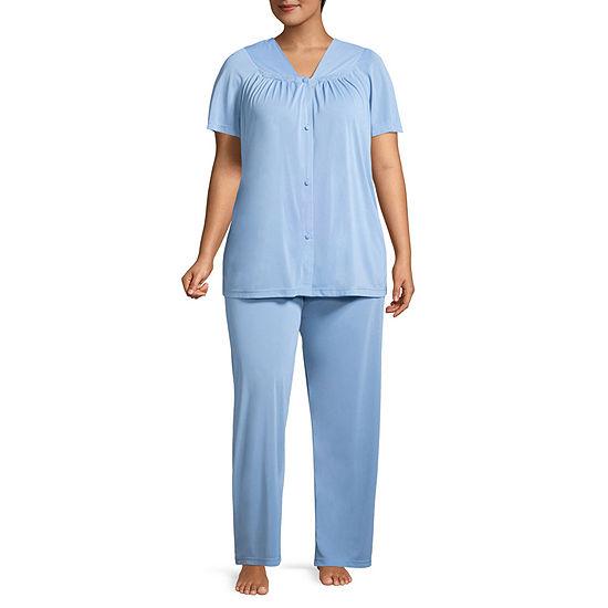 Lissome Polytricot Short Sleeve Pajama Set - Plus