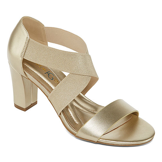72945c53fc85 Andrew Geller Womens Queena Heeled Sandals - JCPenney