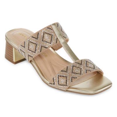Andrew Geller Womens Henlie Heeled Sandals