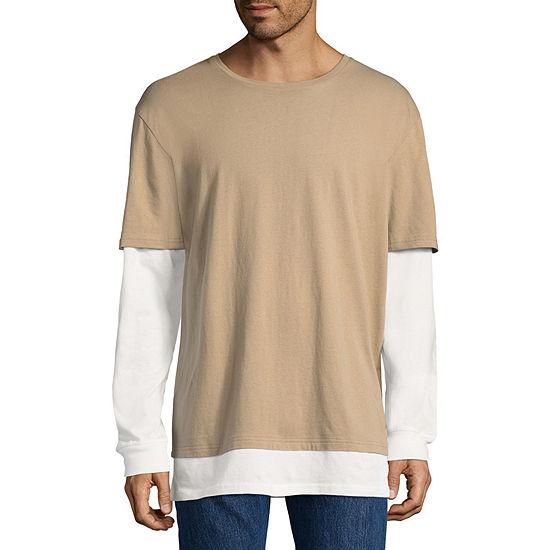 Arizona Mens Round Neck Long Sleeve T-Shirt