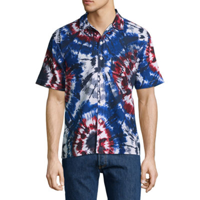City Streets Short Sleeve Button-Front Shirt