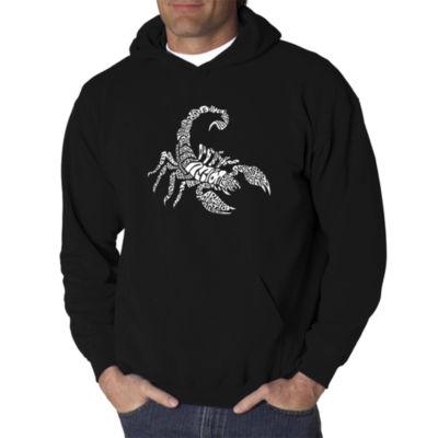 Los Angeles Pop Art Men's Word Art Types of Scorpions Hoodie Big & Tall