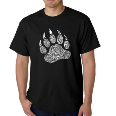 Los Angeles Pop Art Men's Word Art Types of BearsT-Shirt Big & Tall