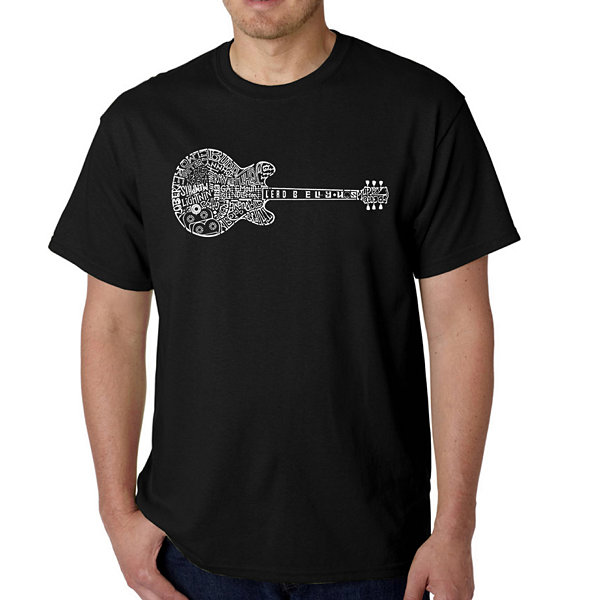 Los Angeles Pop Art Men's Word Art Blues Legends T-Shirt Big & Tall