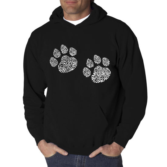 Los Angeles Pop Art Men's Word Art Meow Cat PrintsHoodie Big & Tall