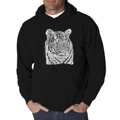 Los Angeles Pop Art Men's Word Art Big Cats Hoodie