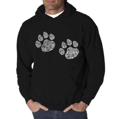 Los Angeles Pop Art Men's Word Art Meow Cat Prints Hoodie
