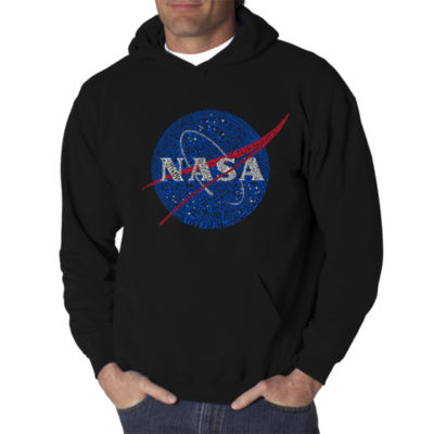 Los Angeles Pop Art Men's Word Art NASA's Most Notable Missions Hoodie