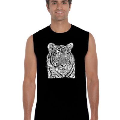 Los Angeles Pop Art Men's Word Art Big Cats Sleeveless T-Shirt