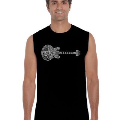 Los Angeles Pop Art Men's Word Art Blues Legends Sleeveless T-Shirt
