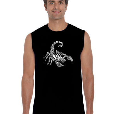 Los Angeles Pop Art Men's Word Art Types of Scorpions Sleeveless T-Shirt