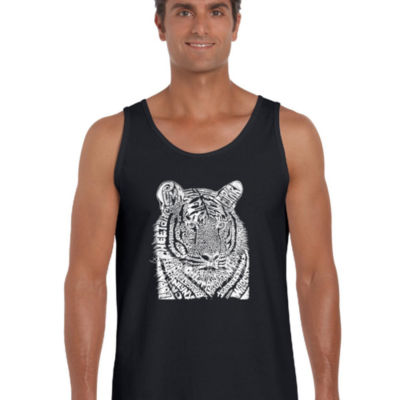 Los Angeles Pop Art Men's Word Art Big Cats Tank Top