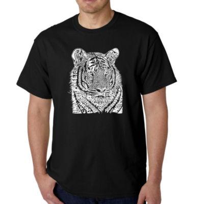 Los Angeles Pop Art Men's Word Art Big Cats T-Shirt