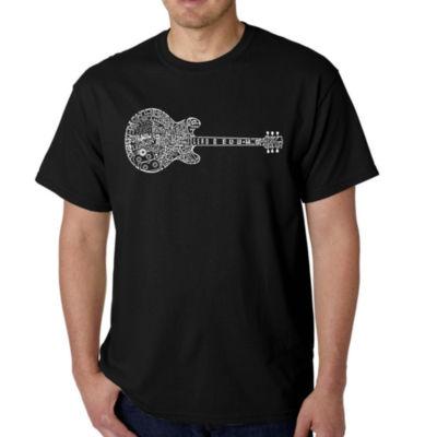 Los Angeles Pop Art Men's Word Art Blues Legends T-Shirt