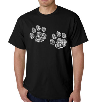 Los Angeles Pop Art Men's Word Art Meow Cat Prints T-Shirt