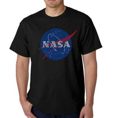 Los Angeles Pop Art Men's Word Art NASA's Most Notable Missions T-Shirt