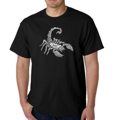 Los Angeles Pop Art Men's Word Art Types of Scorpions T-Shirt