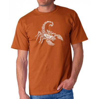 Los Angeles Pop Art Men's Word Art Types of Scorpions T-Shirt Big & Tall