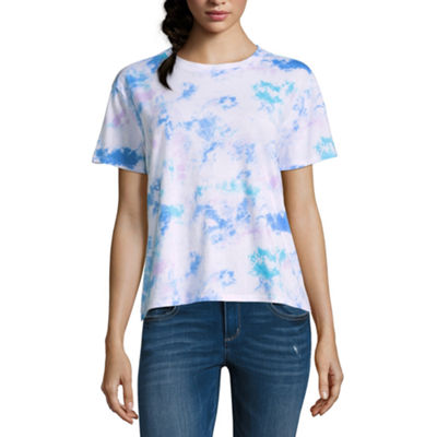 Arizona Short Sleeve Crew Neck T-Shirt-Womens Juniors