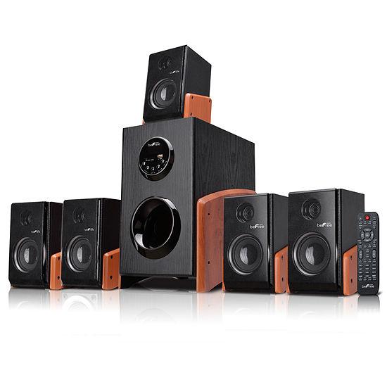 beFree Sound 5.1 Channel Surround Sound Bluetooth Speaker System -Wood