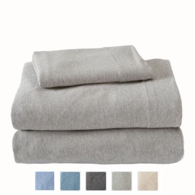 Great Bay Home Heathered Super Soft Jersey Knit Sheet Set