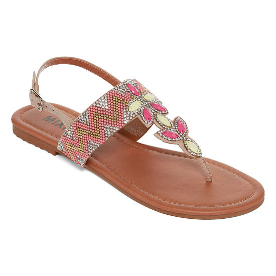 79f445e44b98 Mixit Womens Flower Strap Sandals - JCPenney