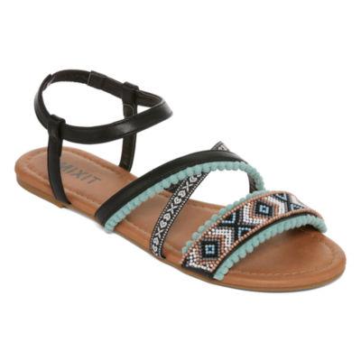 Mixit Pom Strap Sandals