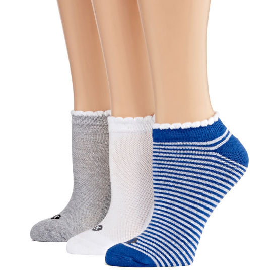 Xersion 3 Pair Scalloptop Low Cut Socks - Womens