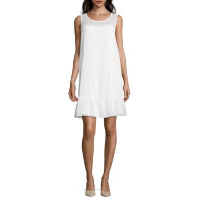Sleeveless Peplum Short Dress