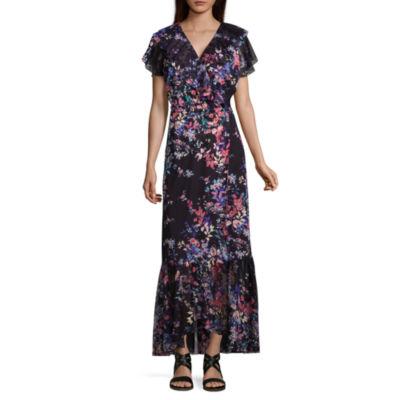 Spense SS Ruffle Wrap Maxi Dress