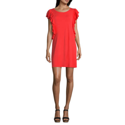 a.n.a. Short Sleeve Floral A-Line Dress