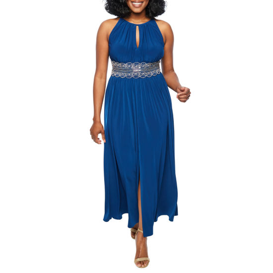 R & M Richards Sleeveless Embellished Ball Gown-Petite