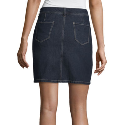 St. John's Bay Classic Denim Skort - Tall Inseam 18""