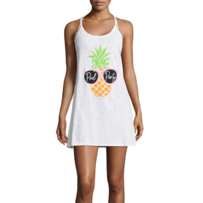 Miken Knit Swimsuit Cover-Up Dress-Juniors