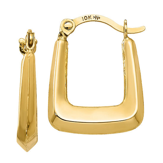 10K GOLD 15mm Square Hoop Earrings
